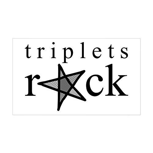 CafePress Triplets ROCK Rectangle Sticker Rectangle Bumper Sticker Car Decal