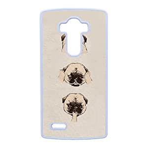 DIY PUGS Theme Phone Case Fit To LG G4 , A Good Gift To Your Family And Friends