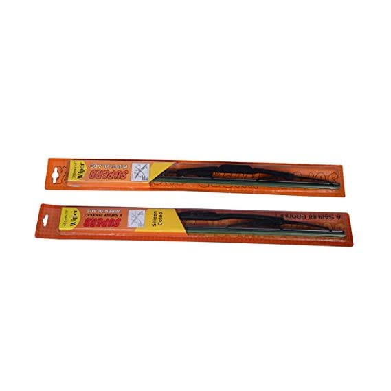 "Oshotto WBM-006 Superb/Coozo Wiper Blade Assembly for Maruti Zen Estilo, 21""/12"" (Set of 2)"