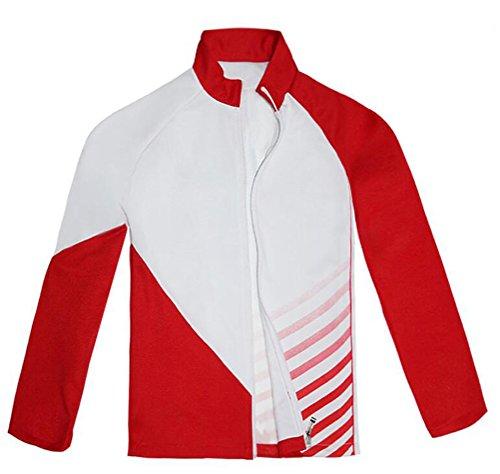 Giacometti Costume (Xiao Maomi Mens Christophe GIACOMETTI Cosplay Costume Sportswear Boys Jacket Top (M, Red))
