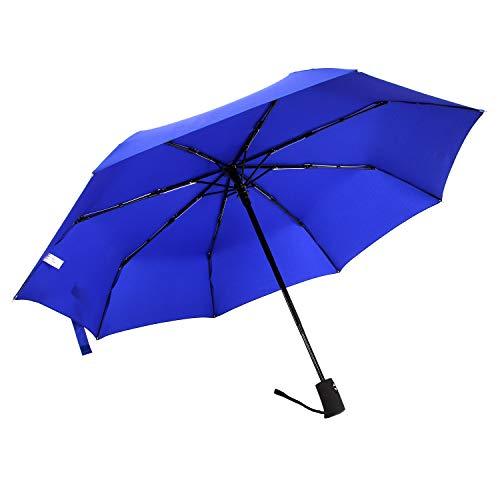 New Allaza Women Travel Umbrella Windproof Automatic Open Close Compact Folding Umbrellas Royal Blue