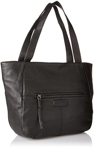 Liebeskind Berlin - Tulsa Cosnwe, Shoppers y bolsos de hombro Mujer, Schwarz (Oil Black), 12x32x44 cm (B x H T)