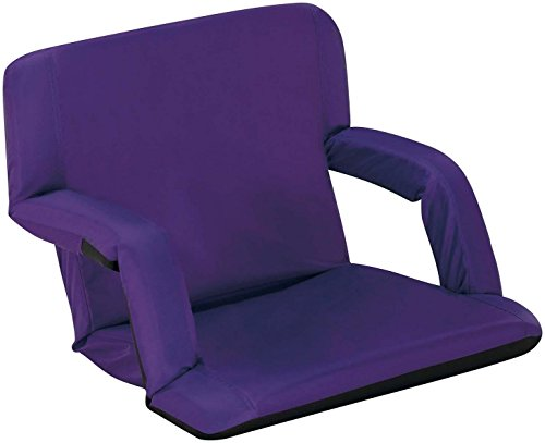 Naomi Home Venice Portable Reclining Seat with Armrest, Purple, Standard (Bench Standard Seat)