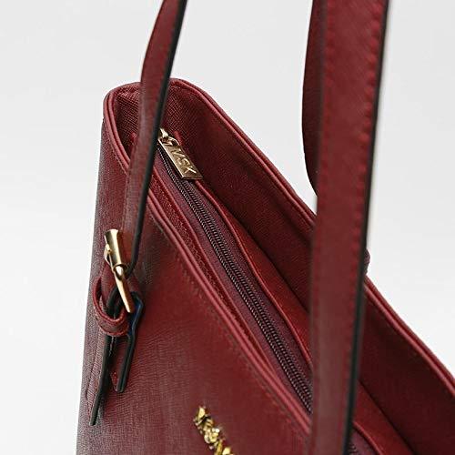 Bolso ASIAN Shopping 15 X 45 X 29 cm S/ímil Piel Burdeos MISAKO Bolso Tote MSK