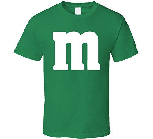 M&m's Green Chocolate Candy Costume Shirt S Irish Green