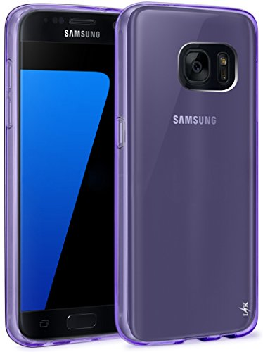 S7 Case, LK Ultra [Slim Thin] Scratch Resistant TPU Gel Rubber Soft Skin Silicone Protective Case Cover for Samsung Galaxy S7 (Purple)