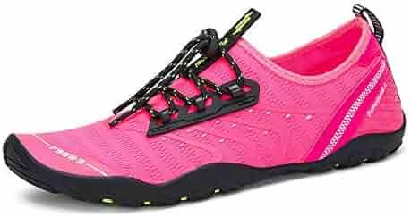 5dad34725a33 Mishansha Mens Womens Water Shoes Quick Dry Barefoot for Swim Diving Surf Aqua  Sports Pool Beach