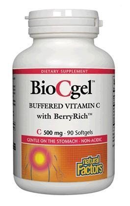 UPC 068958013534, Natural Factors - BioCgel Buffered Vitamin C with BerryRich, Gentle on the Stomach, 90 Soft Gels