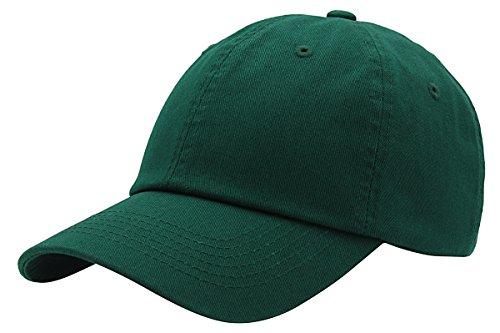 Top Level Baseball Cap for Men Women - Classic Cotton Dad Hat Plain Cap Low Profile, DGN Dark Green