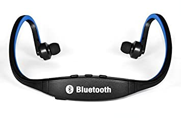 Cascos Auriculares Inalámbricos Azules Bluetooth Para Cuello Running, Ideal Para Correr!: Amazon.es: Electrónica