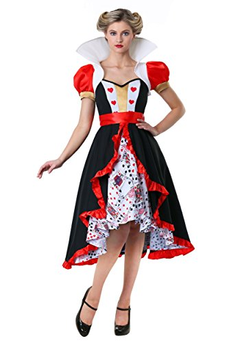 womens flirty queen hearts costume