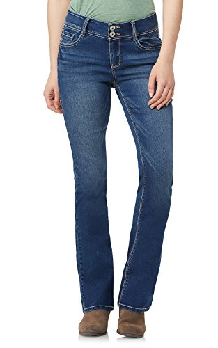 WallFlower Junior's Instastretch Luscious Curvy Bootcut Jeans, Chrystie Pure 15