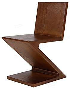 Emorden Furniture Gerrit Thomas Rietveld Chair, MDF with Ash Wood Skin. (Walnut)