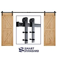 Foliggio 5 Sliding Barn Door Adjustable Floor Bottom Guide All Hardware Included 8-in-1 Setup Option