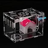 homozy Hamster Small Acrylic Cage Habitat Playhouse