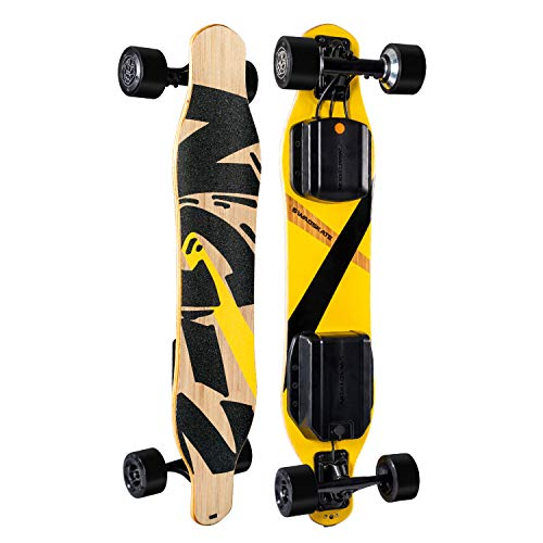 "SWAGSKATE NG2 38"" A.I. Powered Electric Longboard Skateboard Hands-Free or Remote Control 900W Dual-Hub Brushless Motor 3.5"" x 52mm PU Wheels"