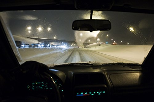 Driving a car in the snow. Reykjavik, Iceland. 30x40 photo reprint by PickYourImage