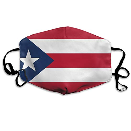Kupik Puerto Rican Flag Por Puerto Rico Anti Dust Mouth Mask Gift for Friends Man Woman