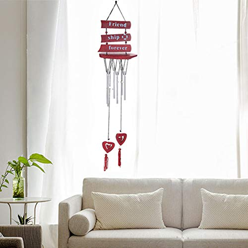 qiguch66 Decorations for Living Room, Sailboat Letter Love Heart Pendant Aeolian Bells Wall Hanging Home Decor Gift
