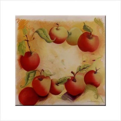 Tuftop McGowan Apples Trivet, Multicolor