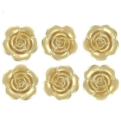 Amazon.com: 6 rosa de oro velas flotantes boda Sweet 16 ...