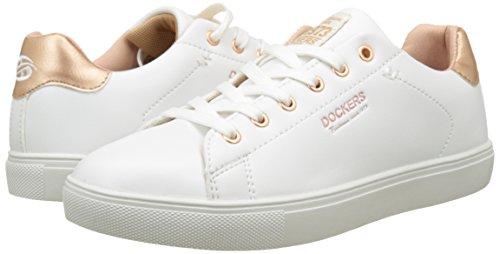 Gerli 38pd205 By weiss Baskets rosegold Dockers Basses Femme Blanc 610592 q5TnwHP1