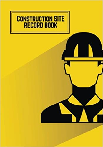 construction site record book yellow daily activity log book