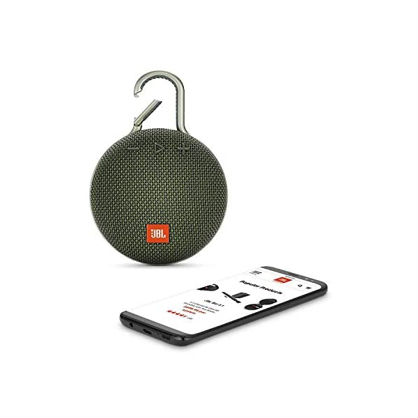 JBL Clip 3 - enceinte Bluetooth Portable avec Mousqueton - Étanchéité Ipx7 - Autonomie 10hrs - Qualité Audio JBL - Vert 3