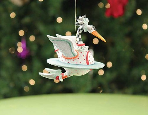 Patience Brewster 12 Days - Day 7 Mini Swan A Swimming Christmas Figural Ornament 08-30642 ()