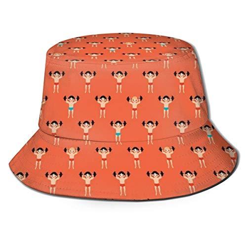 Washed Cotton Denim Bucket Hat Cool Dog