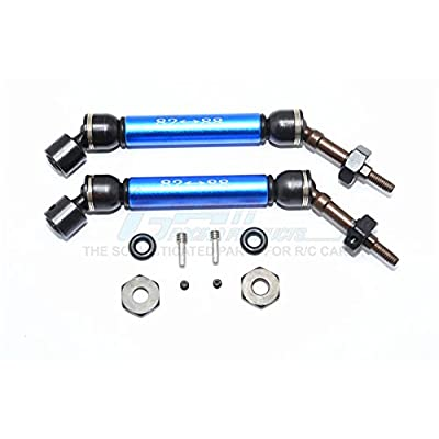 GPM Traxxas Slash 4X4 Upgrade Parts Steel+Aluminum Rear CVD Drive Shaft with 12mmx6mm Wheel Hex - 1Pr Set Blue: Toys & Games