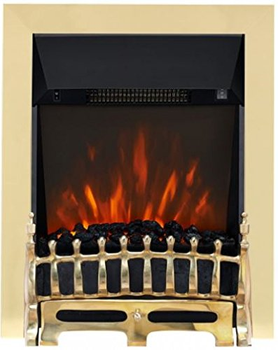 Broadly LED Electric Inset - Brass Focal Point Fires FPFAZ00804