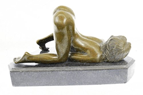 Handmade European Bronze Sculpture Originaloliviono Marble Figurine Nude Girl Deco -6822
