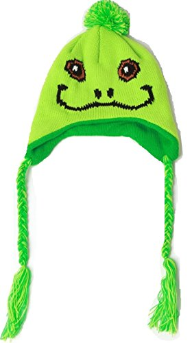 Frog Baby Toddler Pilot Hat Cap Green Tie Strings