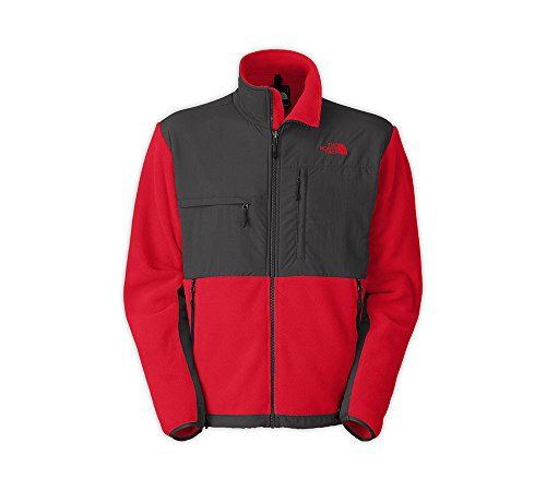 The North Face Denali Jacket - Men's (Small, Recycled TNF Red/Asphalt Grey)