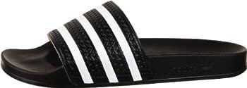 Adidas Originals Men's Adilette Slide Sandal,blackwhiteblack,7 M Us 4