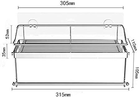 Cozywind Estantería del Baño Portarrollos de Cocina con Estante para Especias Autoadhesivo Soporte de Pared, Acero Inoxidable