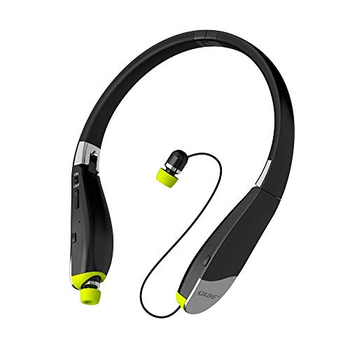 Bluetooth Headset, Wireless Headphones-Ayyie [30 Hrs Playtime ] Wireless Neckband Design Tri-Foldable Retractable Headset for iPhone X/8/7 Plus Samsung Galaxy S9 Note 8 and Other Smartphones by Ayyie