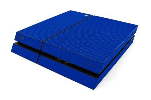 UPC 610079243248, iCarbons Vinyl Skin for Playstation 4 PS4 in Blue Carbon Fiber