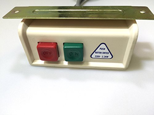 On/off Power Switch Box with Cord for Industrial Sewing Machines - 110 Volt