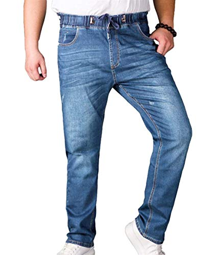 Pantaloni Jeans Denim In Uomo Stretch A Long Gamba Pants E Ragazzo Qk Vita Da Casual lannister Vintage Dritta Hellblau Elastici xRZ5AnWqIn