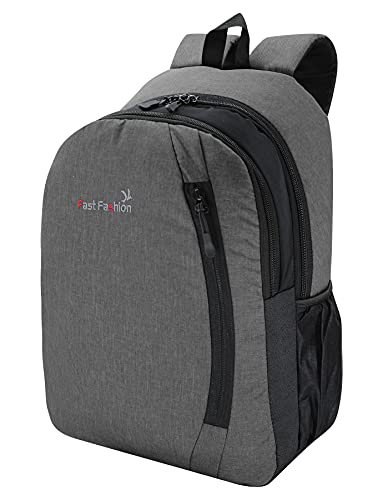 FAST FASHION 5.6 inch Laptop Bakpack/Office Bag/School Bag/Bagpack/Waterproof Backpack for Men & Women (Grey)