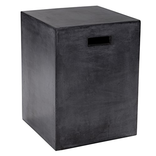 Sunpan Modern Castor End Table, Black (Side Outdoor Table Concrete)