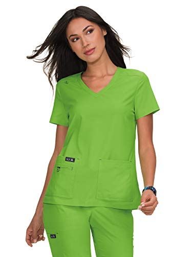 (KOI Basics 373 Women's Becca Scrub Top Green Tea S )