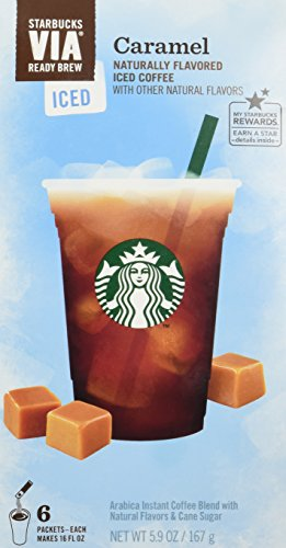 Starbucks VIA Ready Brew Iced Caramel Coffee (3 Pack/Boxes) 6 Packets Each ()