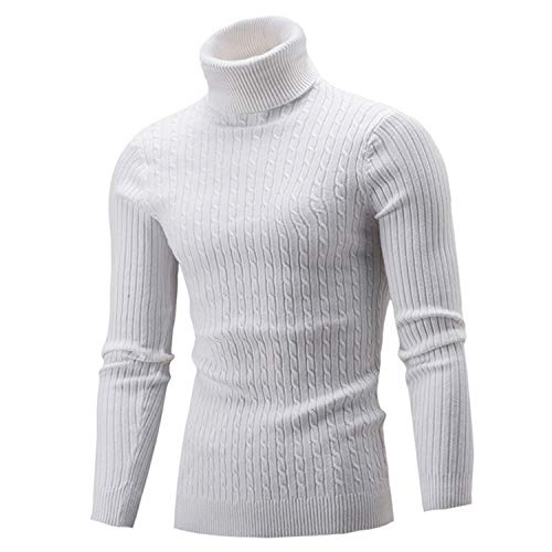 Winter Warm Turtleneck Sweater Men Fashion Solid Knitted for sale  Delivered anywhere in Canada