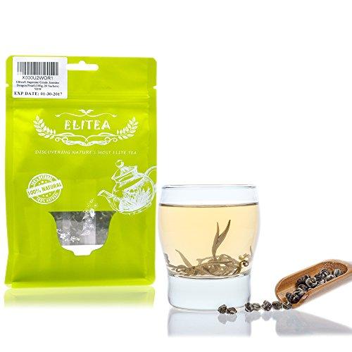 (Elitea Supreme Jasmine Tea Dragon Pearls Balls Silver Needle White Tea Loose Leaf (20 Sachets 3.5oz))