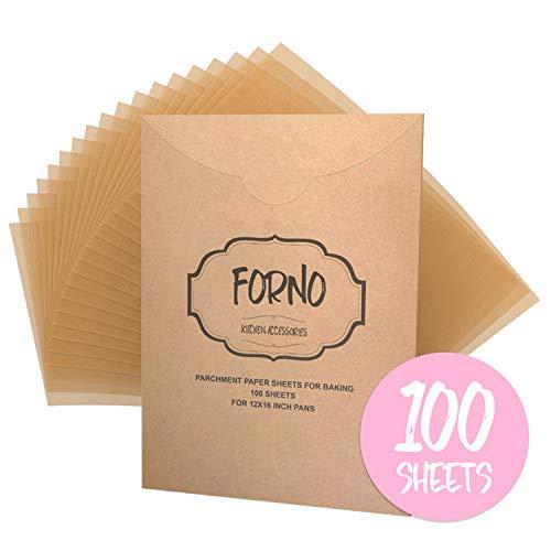 Parchment Paper Sheets For Baking - Reusable Unbleached Precut Parchment Paper Liners For 12 X 16 Cookie Sheets & Pans - Best For Non-Stick Baking - 100 Sheets