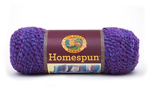 Lion Brand Yarn 790-421 Homespun Yarn, Purple Haze
