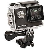 """Maginon WiFI HD-Actioncam AC-400 W - Wasserdicht bis 40m - Videoauflösung 1.080p/30fps - 140° Super-Weitwinkel-Objektiv - Blende F=2.4"""""""